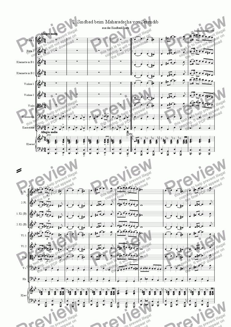 page one of Sindbad-Suite 02 (Sindbad - Orchestra)