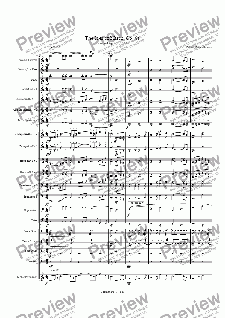 page one of The Ides of March, Op. 8a