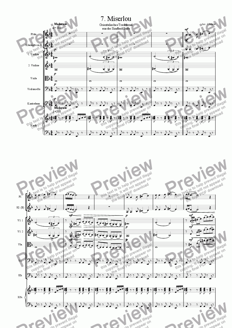 page one of Sindbad-Suite 07 (Miserlou - Orchestra)
