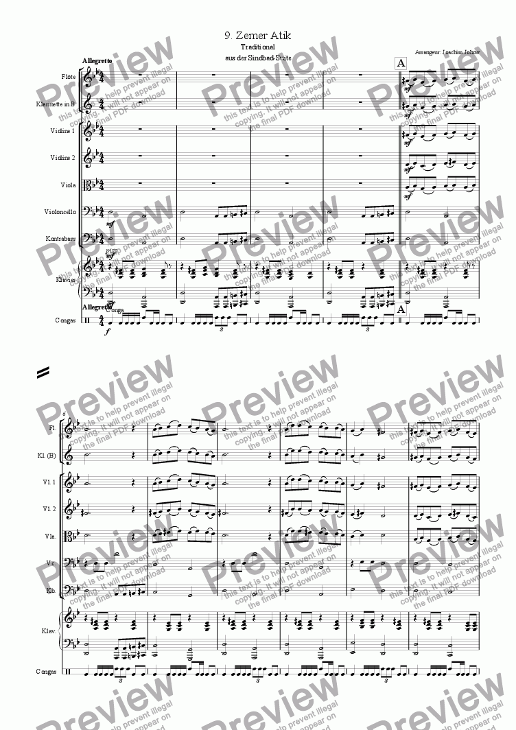 page one of Sindbad-Suite 09 (Zemer Atik- Orchestra)