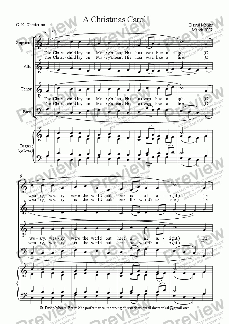 page one of A Christmas Carol