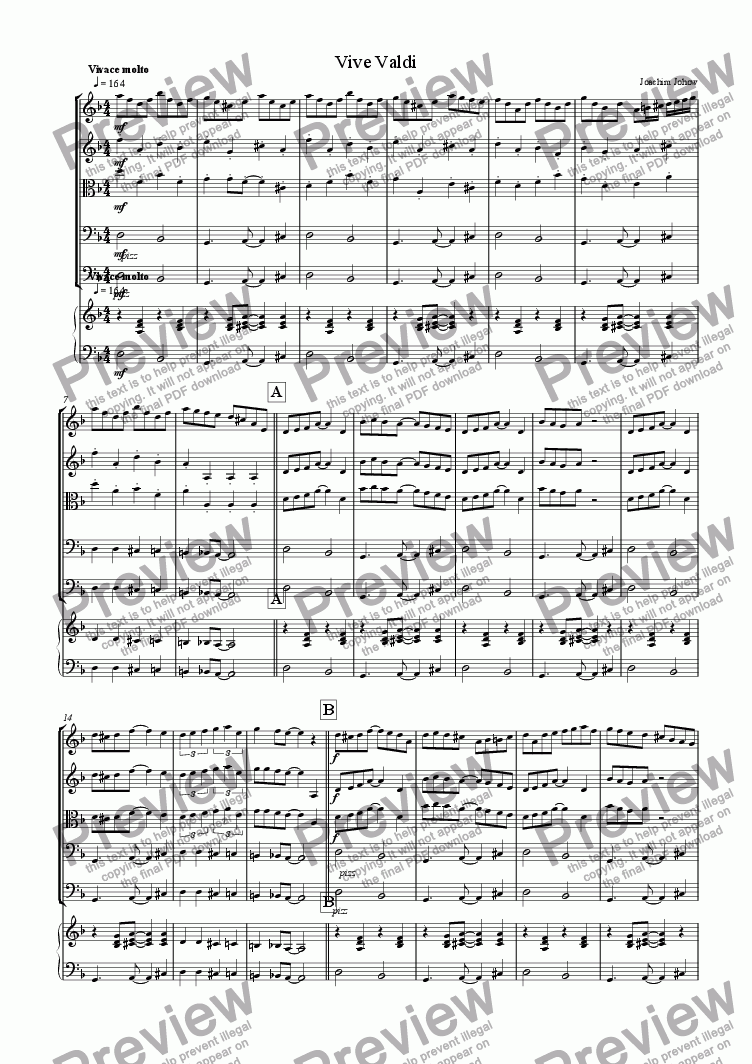 page one of Vive Valdi (School-String-Orchestra/Piano)