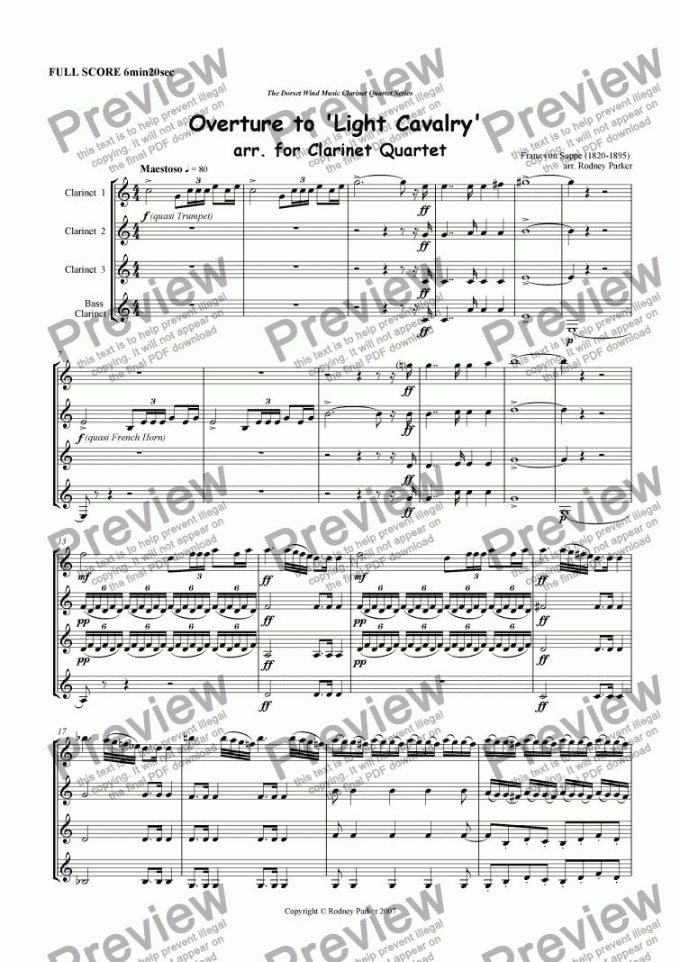Light Cavalry Overture - Bassoon 1