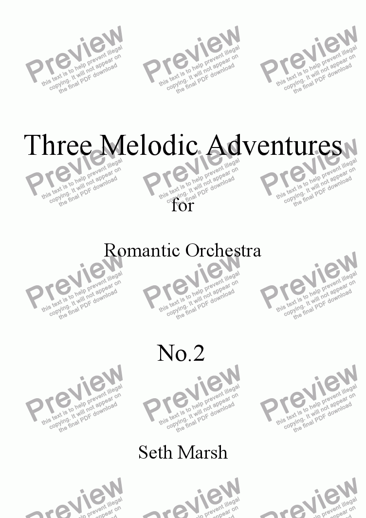 page one of Three Melodic Adventures - No.2