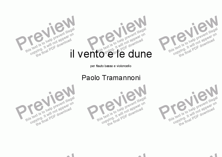 page one of il vento e le dune [The Wind and the Dunes]