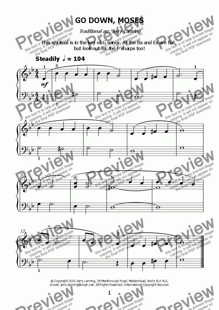 page one of Nearly Making The Grade (easy piano)
