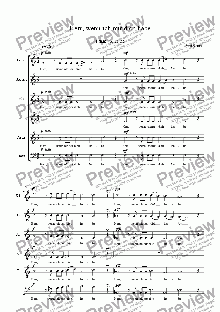 page one of Cantata 2: 1. Introit - Choir
