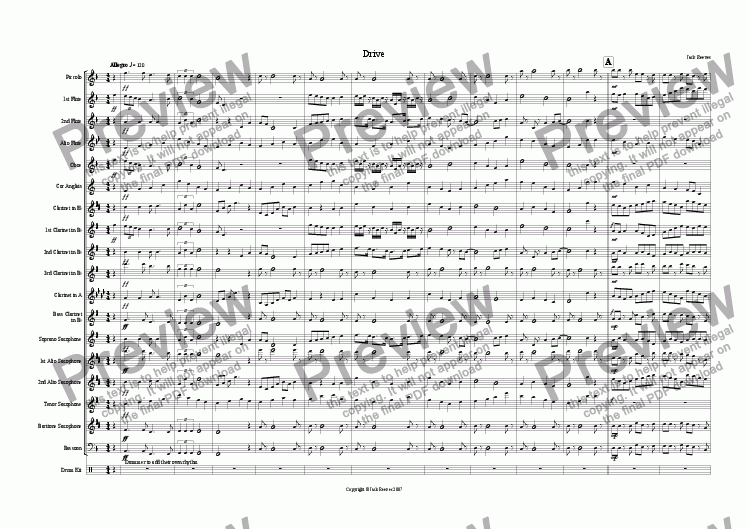 page one of Drive (Woodwind)