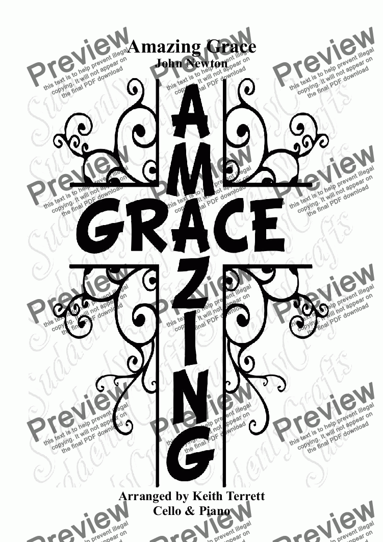 page one of Amazing Grace for Violin & Piano