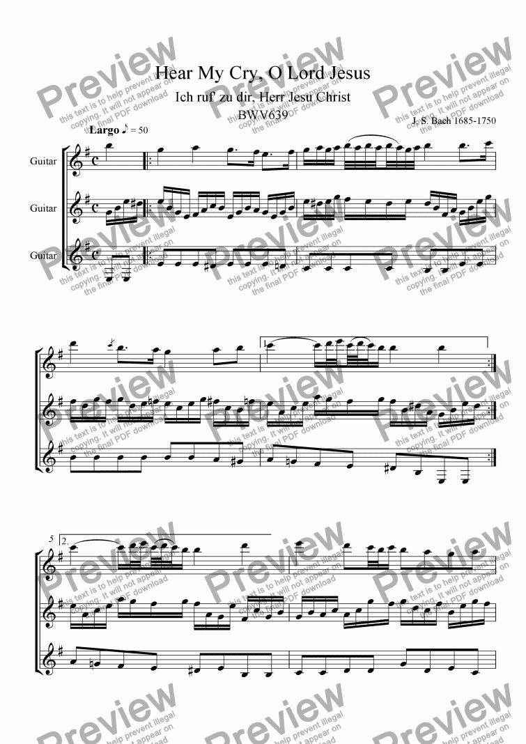 BWV 639 GUITAR EBOOK DOWNLOAD