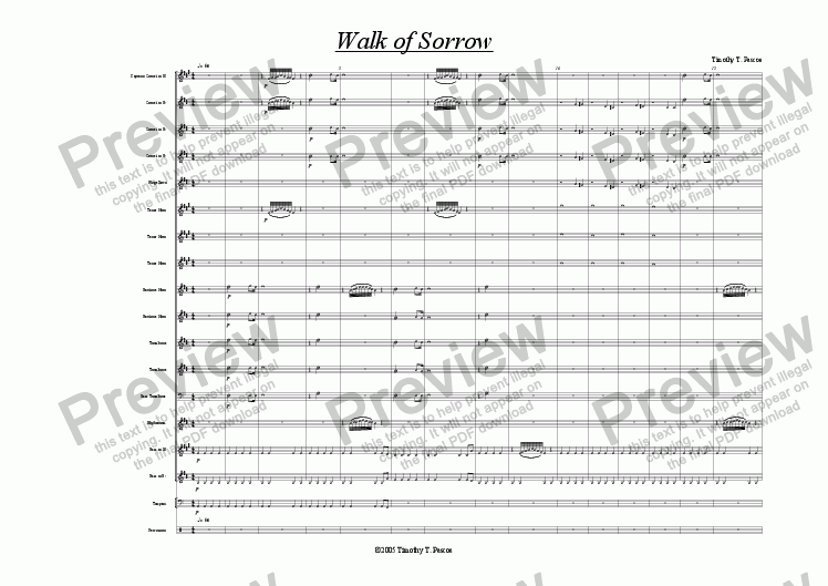 page one of Walk of Sorrow (Brass Band)ASALTTEXT
