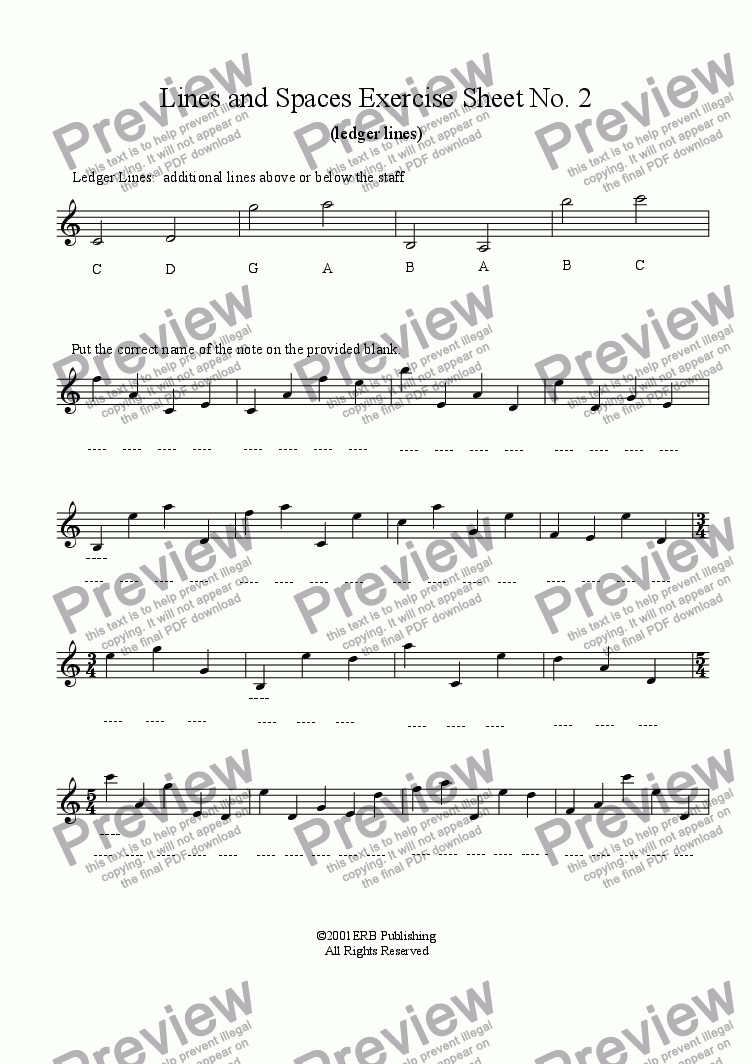worksheet Ledger Lines Worksheet ledger line exercise download sheet music pdf file which method of viewing should i use