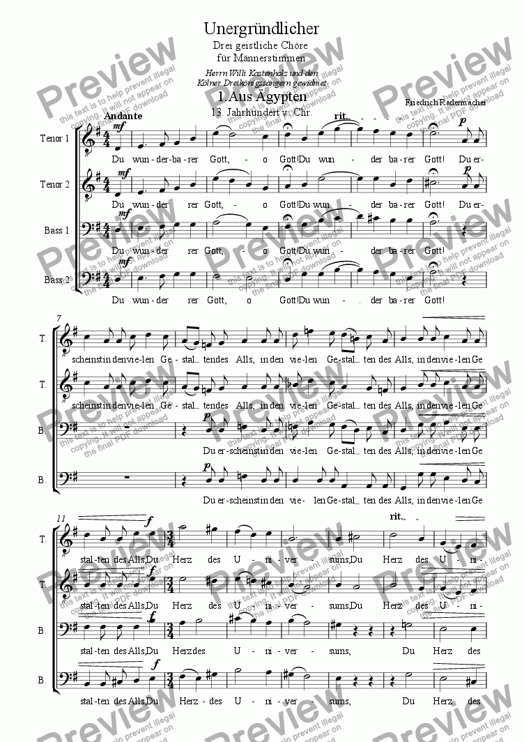 page one of Unergr�ndlicher