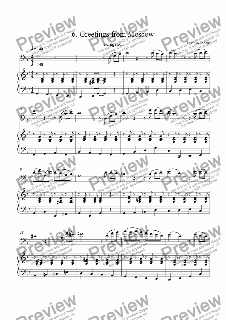page one of Cello Book 05 (Moscow)