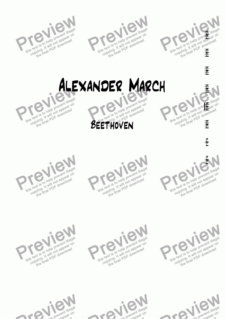 page one of Alexander March