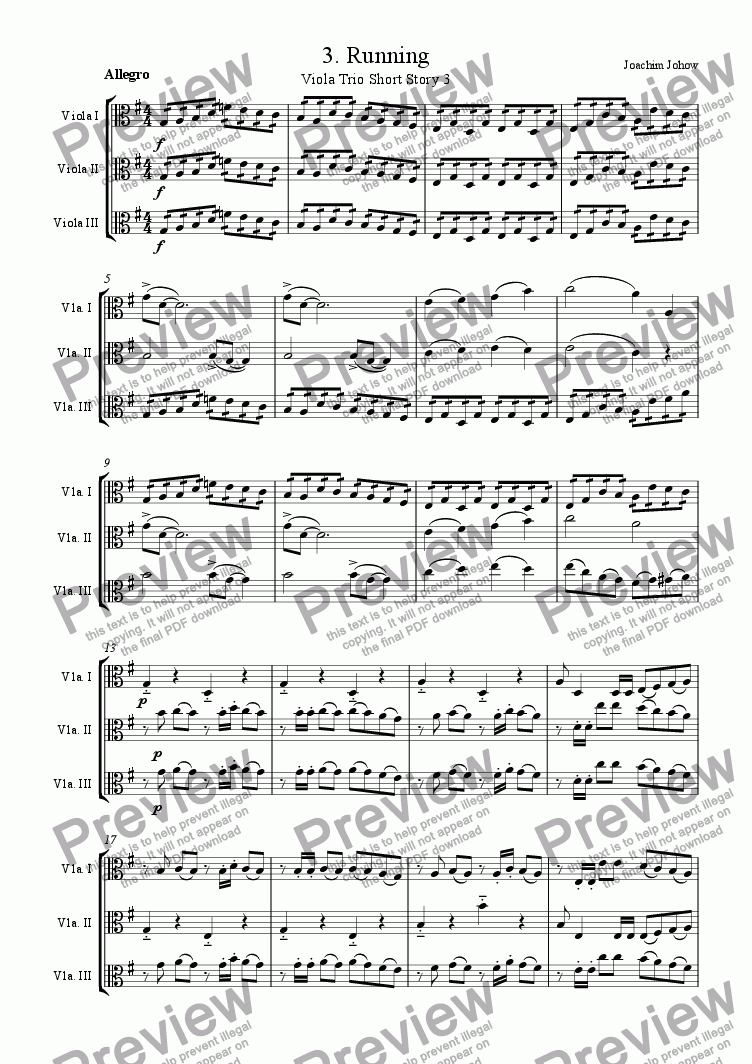 page one of Viola Trio 03