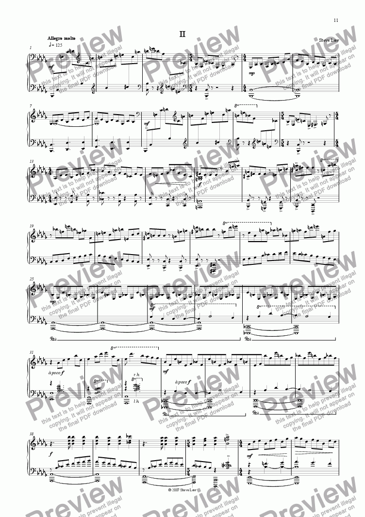 page one of Piano Sonata - second movementASALTTEXT
