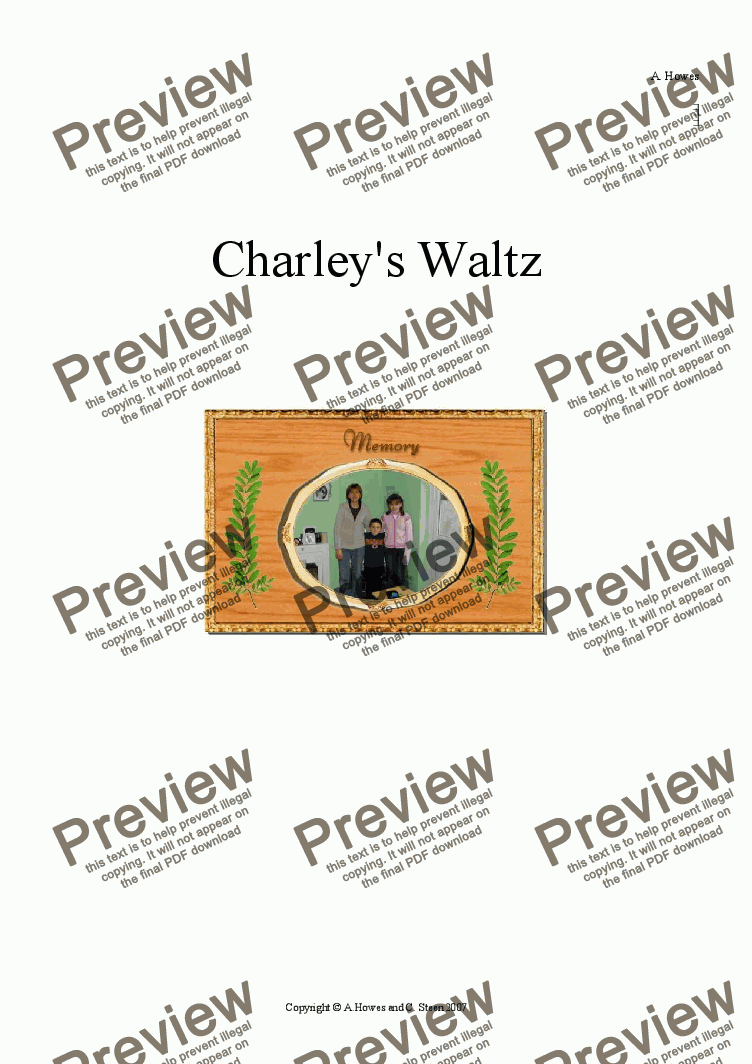 page one of Charley's Waltz