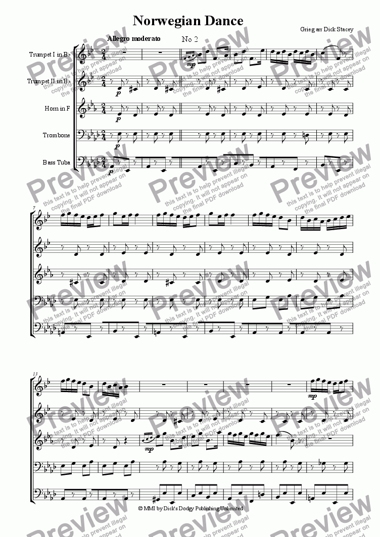 page one of Norwegian Dance (no 2)