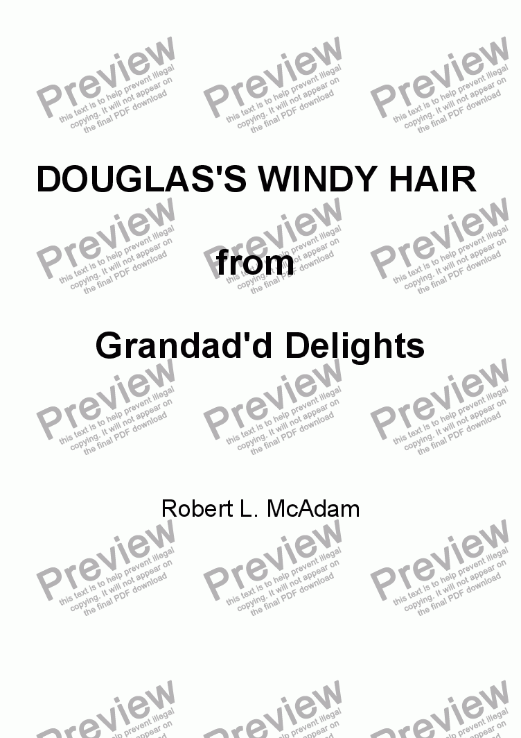 page one of DOUGLAS ' S WINDY HAIR