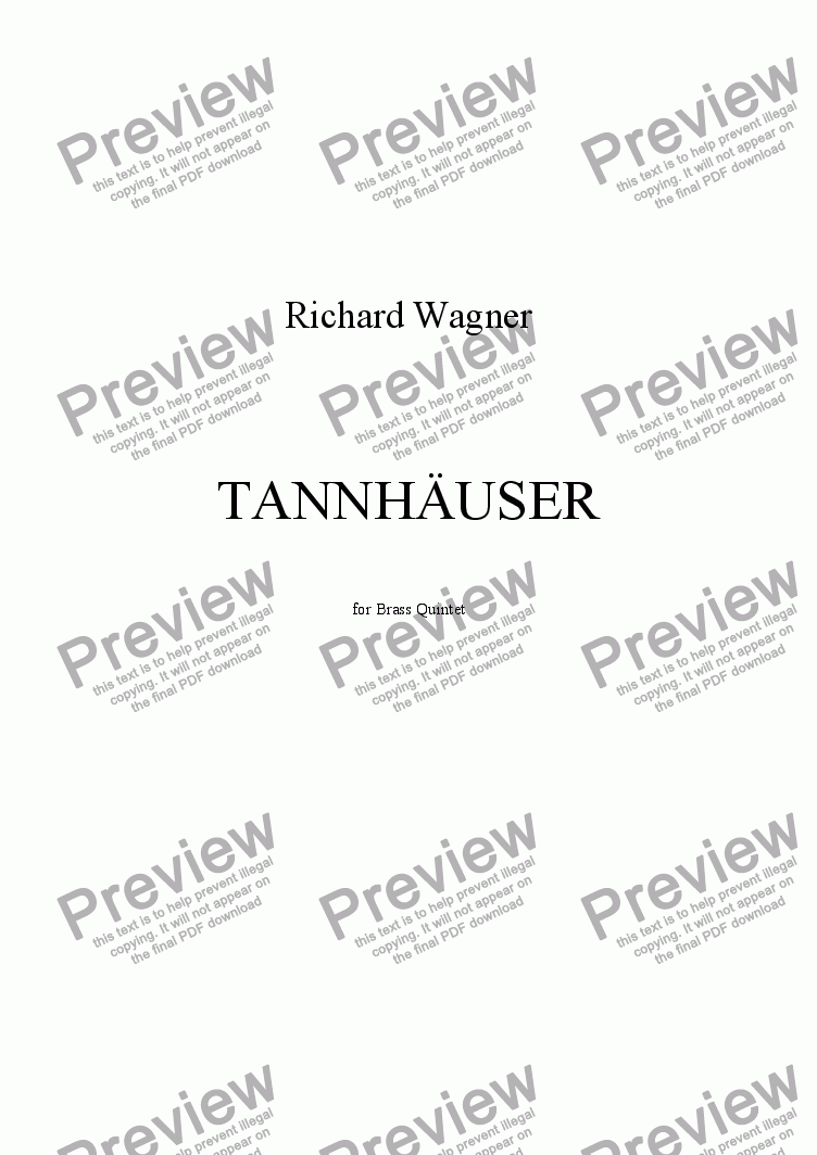 page one of TANNHAUSER