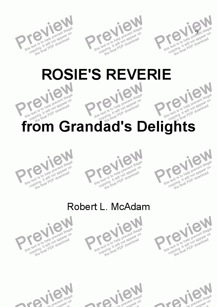 page one of ROSIE'S REVERIE from Grandad's DelightsASALTTEXT