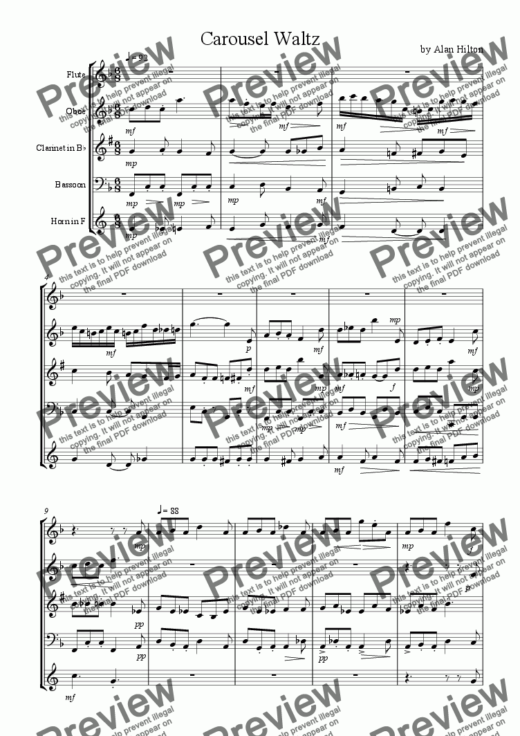 page one of Carousel Waltz
