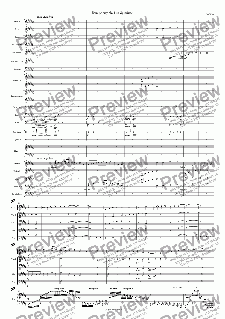 page one of Symphonic Movement