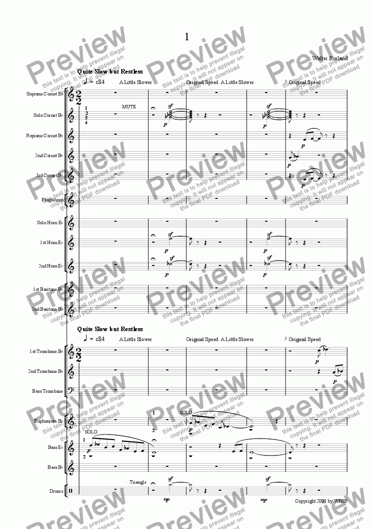 page one of Suite for Brass Band (1)