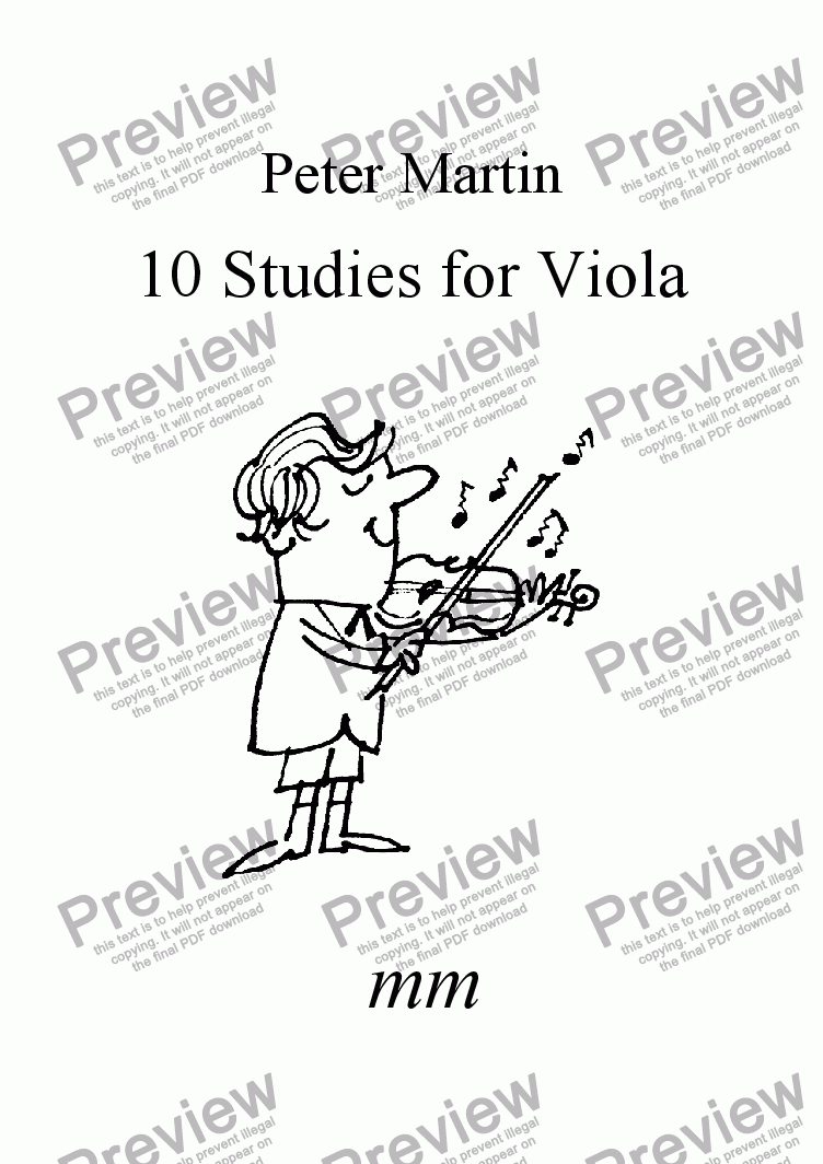 page one of 10 Studies for Viola