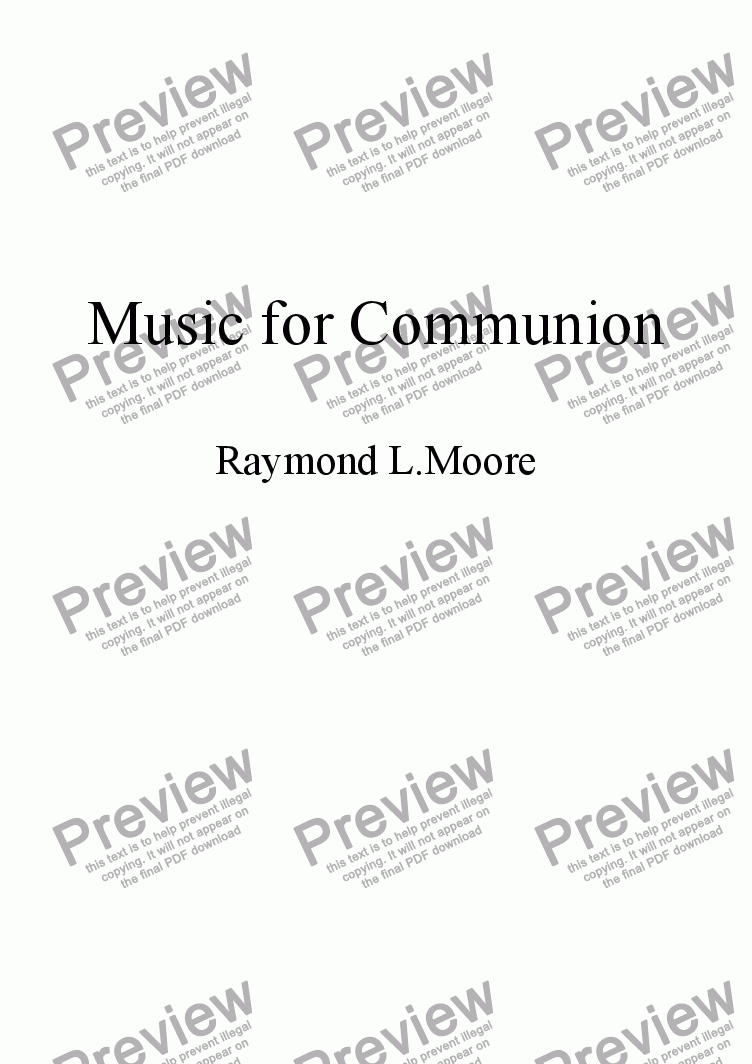 page one of Music for Communion