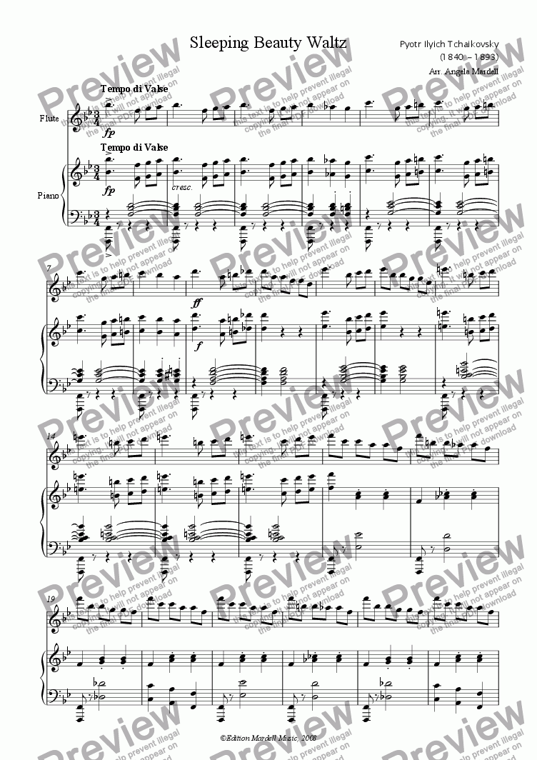 page one of Sleeping Beauty Waltz (Difficult)