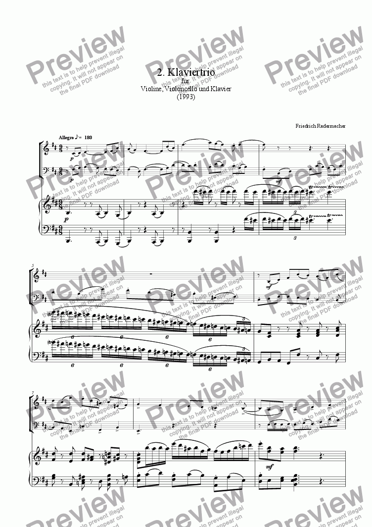 page one of 2. Klaviertrio
