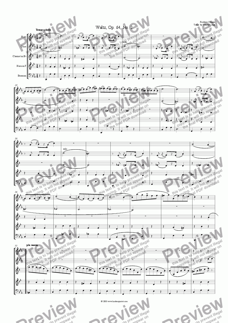page one of Chopin - Waltz, Op. 64. No. 2