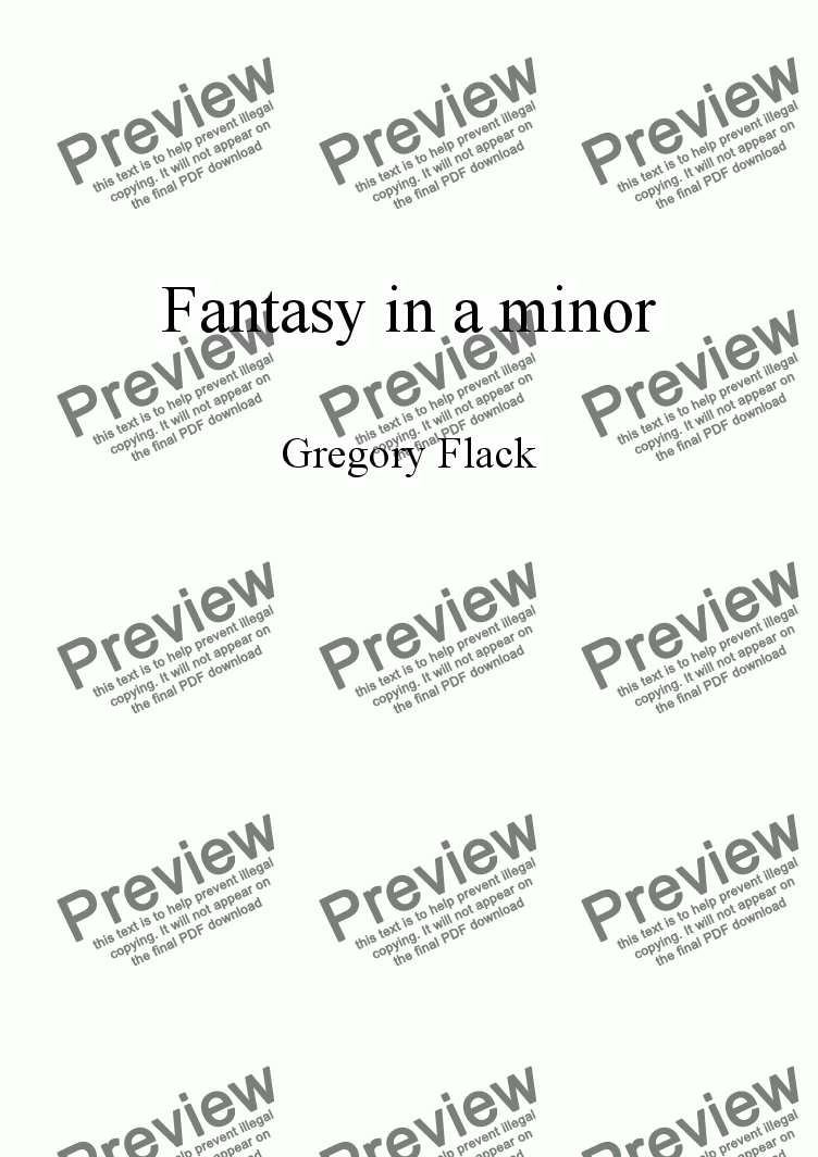 page one of Fantasy in a minor