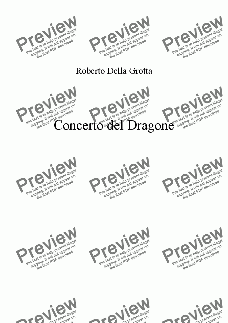 page one of Concerto del Dragone