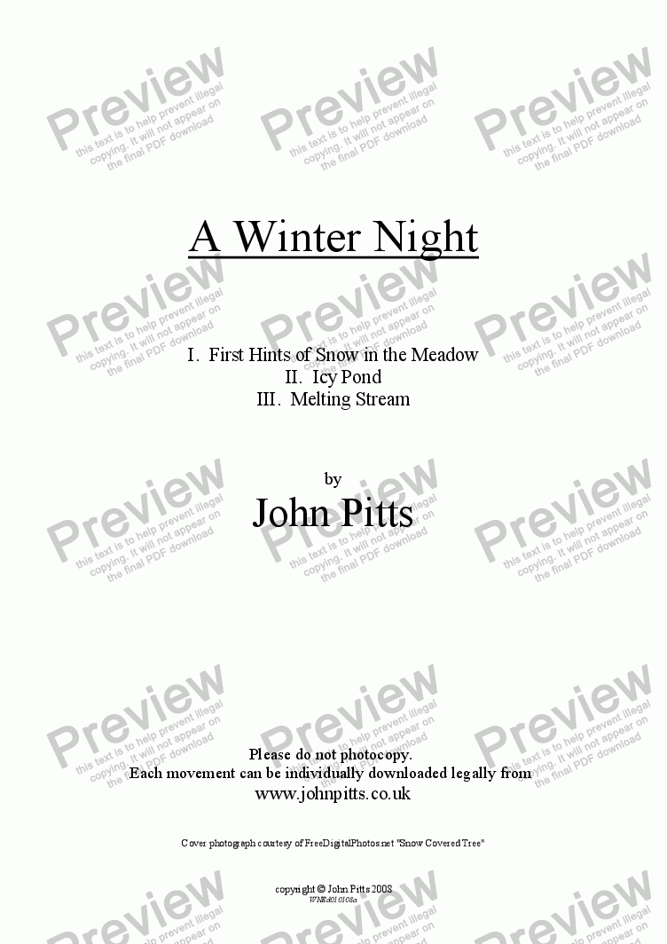 page one of A Winter Night [2008]