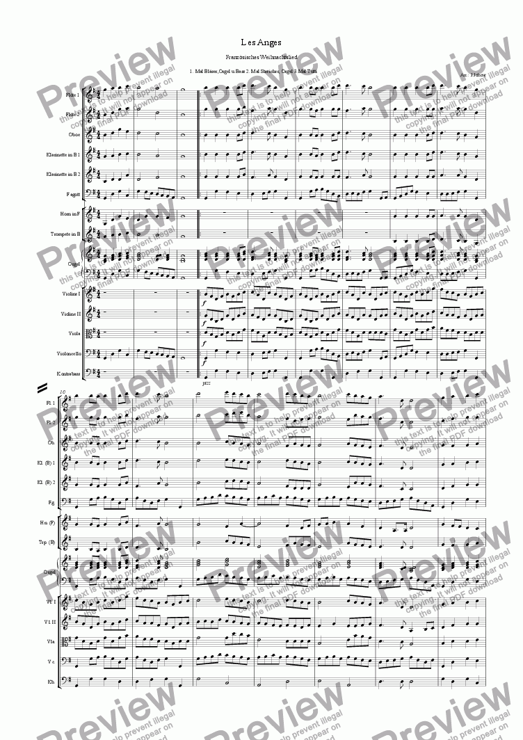 page one of Christmas Music 2 (Les Anges- French Christmas Carol)ASALTTEXT