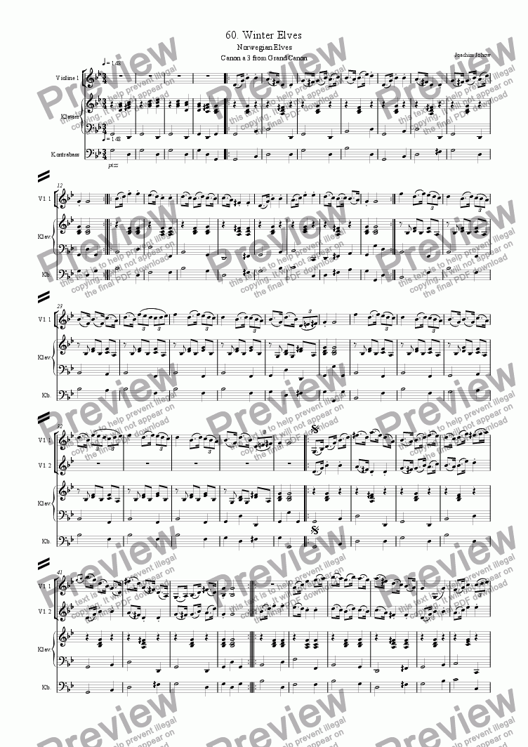 page one of Grand Canon 60 (Winter Elves - 3 Vl)