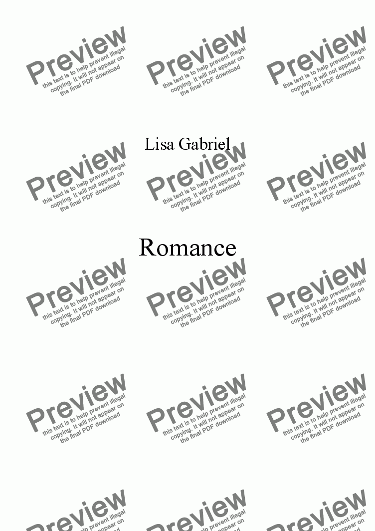 page one of RomanceASALTTEXT