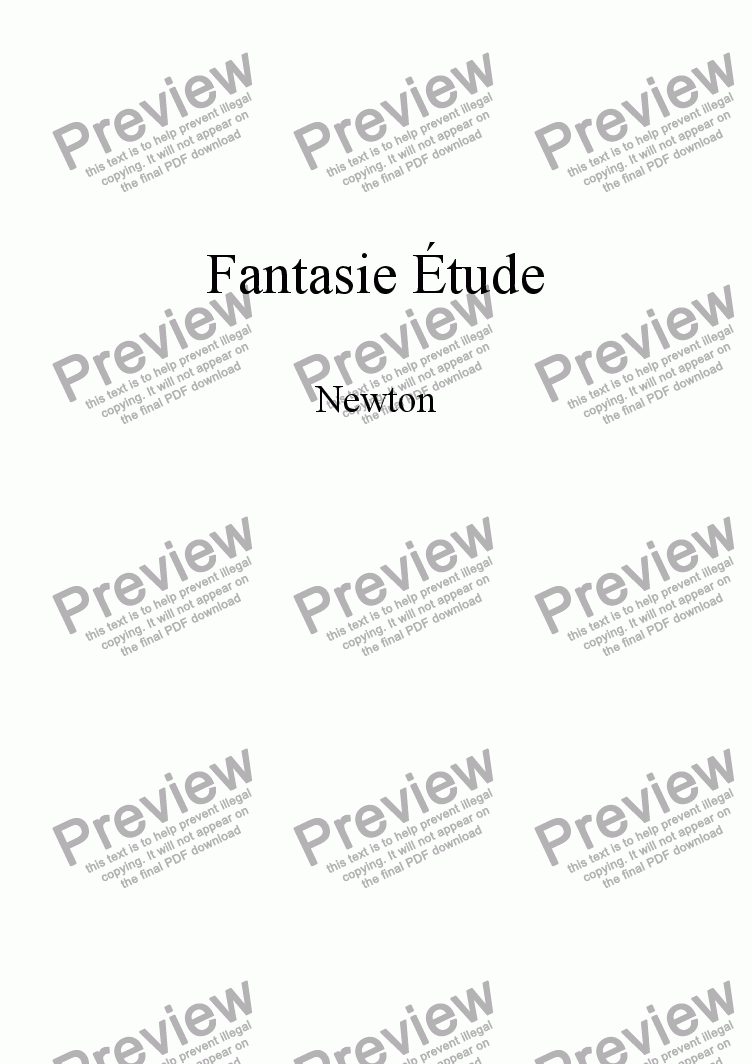 page one of Fantasie �tude part 2