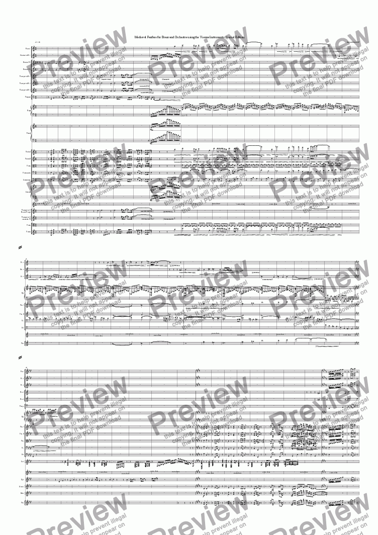 page one of Medieval Fanfare for Brass and Orchestra