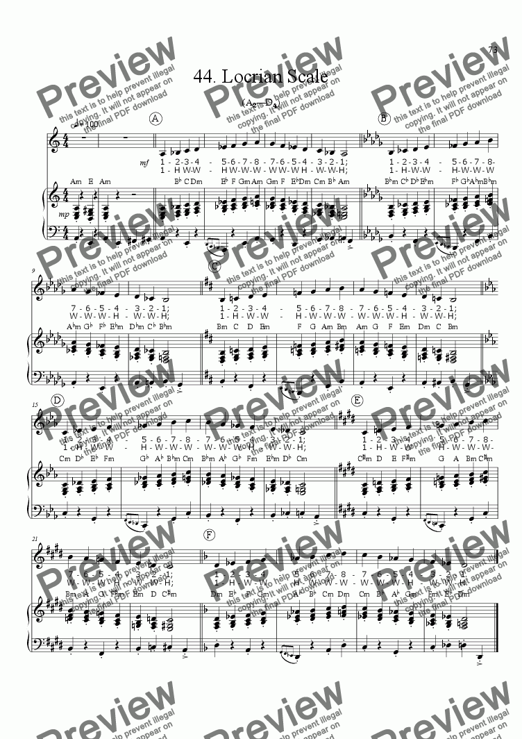 page one of Sing!�44. Locrian Scale [teacher]ASALTTEXT