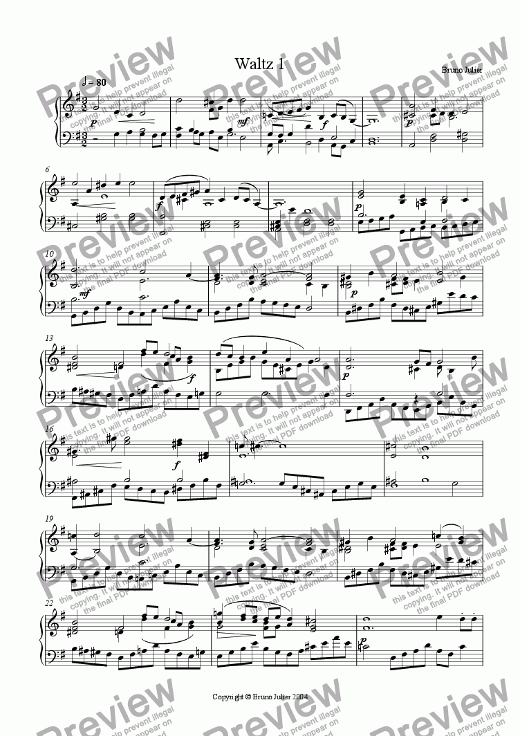 page one of Waltz 1