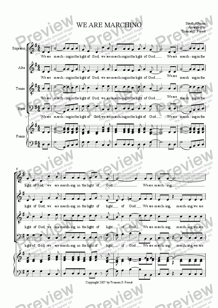 page one of We Are MarchingASALTTEXT