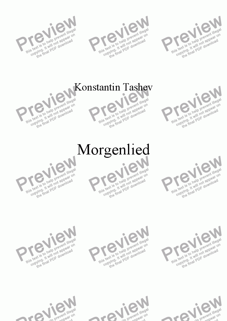 page one of Morgenslied