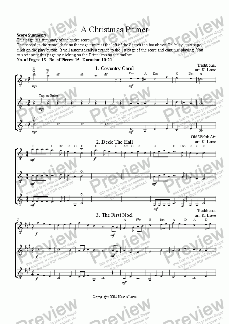 page one of A Christmas Primer (Trio)ASALTTEXT