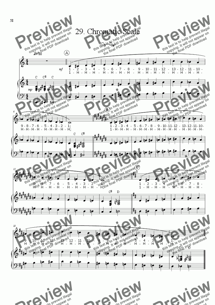 page one of Sing!�29. Chromatic Scale [teacher]ASALTTEXT
