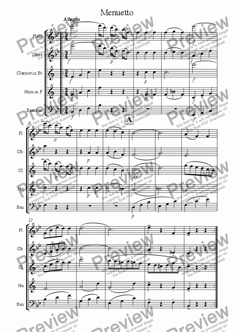 page one of !3.Movement of Mozarts fragment.quintet (completed)ASALTTEXT