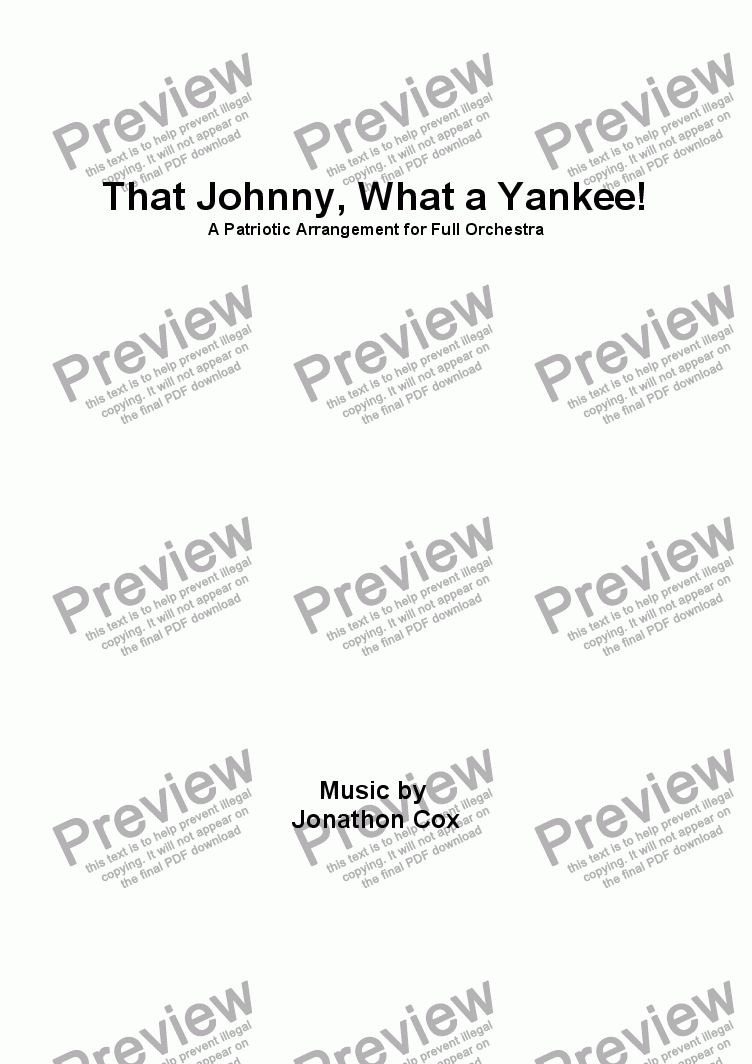 page one of That Johnny, What a Yankee